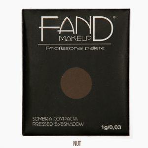Sombra unitária compacta - Fand Makeup - Nut - Opaco/Mate