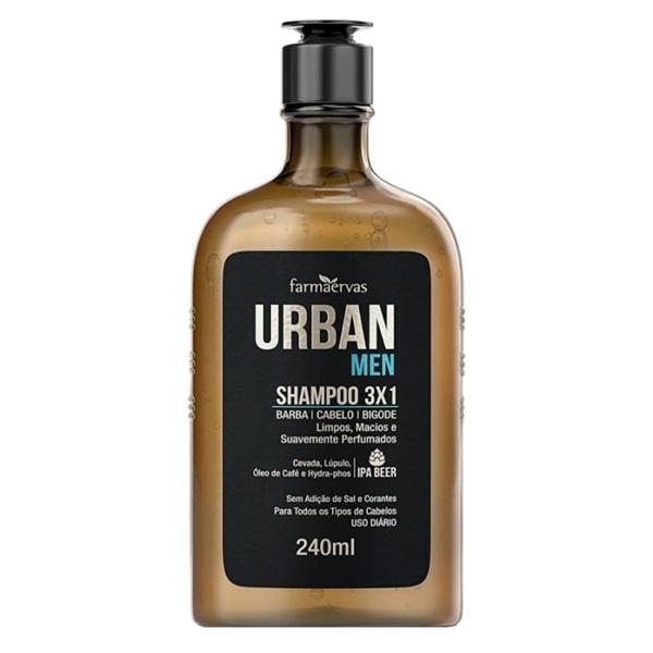 Shampoo 3X1 Farmaervas URBAN MEN 240ML