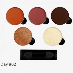 Paleta de Sombra GLAM DAY #02 Com 5 Cores - Indice Tokyo