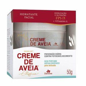 Creme Hid Facial de Aveia S/ perfume Para Pele Delicada 50 gr - Davene