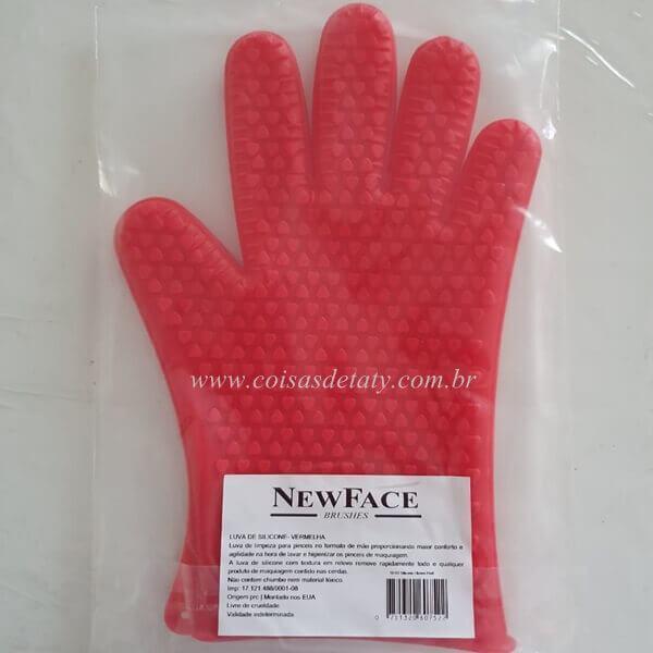 Luva para Lavar Pincéis Vermelha SG-12 - Newface