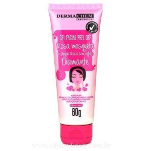 Gel Facial Peel Off Rosa Mosqueta 60g Dermachem Coisas de Taty