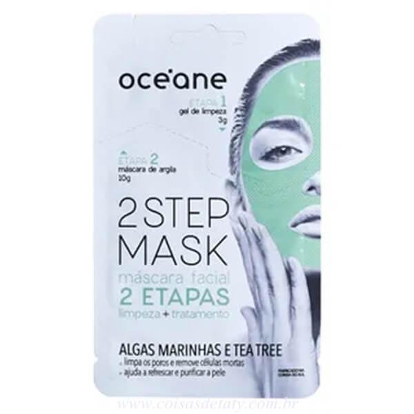 Máscara Facial Dual Step Algas Marinhas e Tea Tree - Oceane