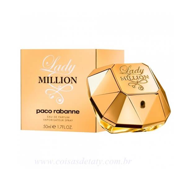 Lady Million Eau De Perfum 50ml Paco Rabanne Coisas de Taty
