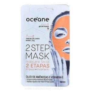 Máscara Facial 2 Step Amêndoa e Vitamina E 13g - Oceane