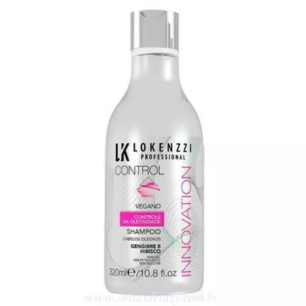 Shampoo Vegano Gengibre e Hibisco 320ml - Lokenzzi