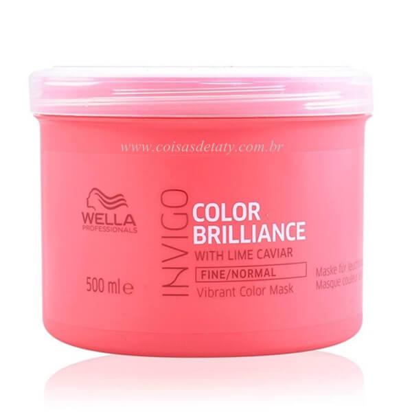 Máscara Professionals Invigo Color Brilliance 500ml - Wella