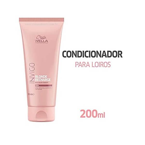 Condicionador Invigo Blonde Recharge 200ml - Wella
