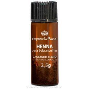 Henna Para Sobrancelhas Castanho Claro 2,5g - Hintz Cosmetics